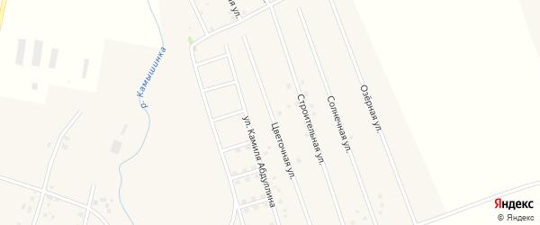Цветочная улица на карте села Старых Камышлы с номерами домов