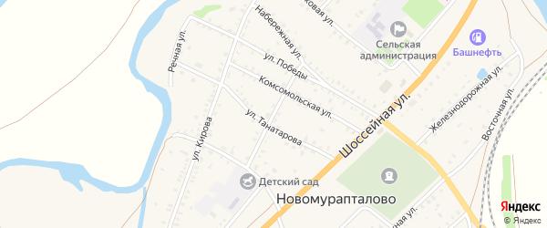 Улица Ишмаева на карте села Новомурапталово с номерами домов