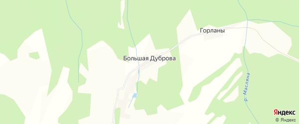 Карта деревни Большая Дуброва в Пермском крае с улицами и номерами домов