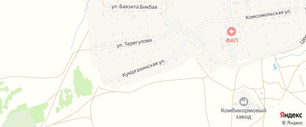 Куюргазинская улица на карте села Айсуак с номерами домов