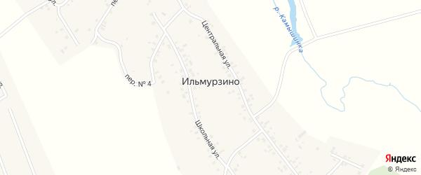 Переулок N2 на карте деревни Ильмурзино Башкортостана с номерами домов