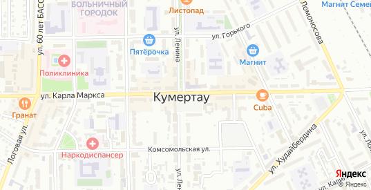 Дворянская улица в Кумертау с номерами домов на карте. Спутник и схема онлайн