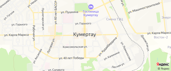 Территория СНТ Газовик Вторчермет на карте Кумертау с номерами домов