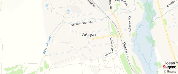 Карта села Айсуак в Башкортостане с улицами и номерами домов