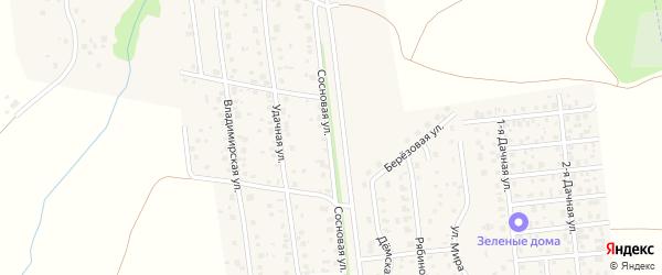 Сосновая улица на карте села Таптыково с номерами домов