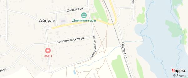 Центральная улица на карте села Айсуак с номерами домов