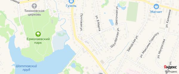 Почтовый переулок на карте села Ермолаево Башкортостана с номерами домов