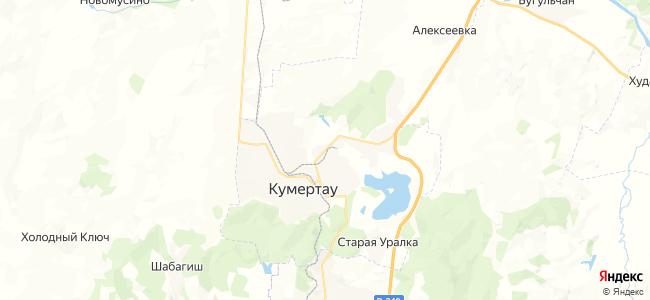Кумертау на карте