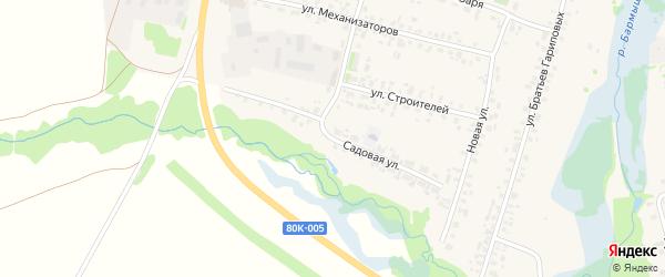 Садовая улица на карте села Верхние Татышлы с номерами домов