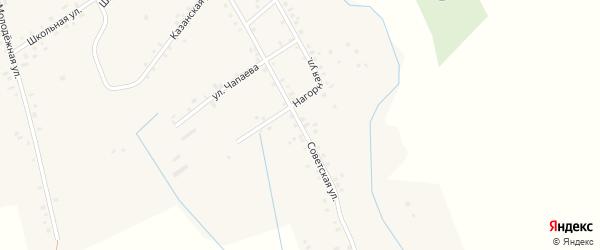 Советская улица на карте села Таныпа Пермского края с номерами домов