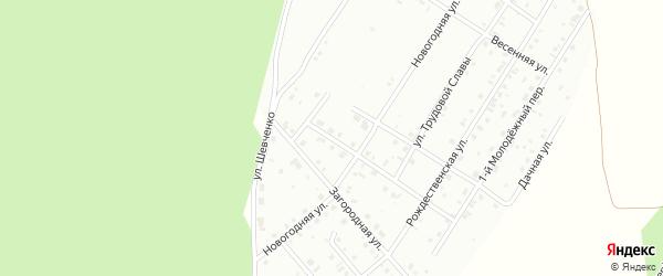 1-й Озерный переулок на карте Кумертау с номерами домов