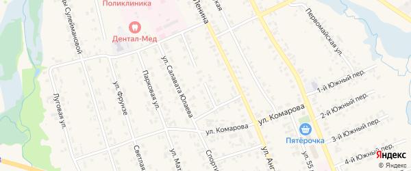 Улица Ибрагимова на карте села Верхние Татышлы с номерами домов