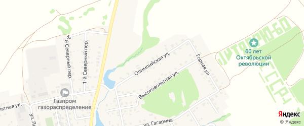 Олимпийская улица на карте села Верхние Татышлы Башкортостана с номерами домов
