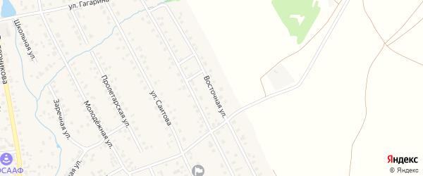Восточная улица на карте села Верхние Татышлы с номерами домов