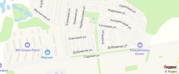 Брусничная улица на карте села Михайловки Башкортостана с номерами домов