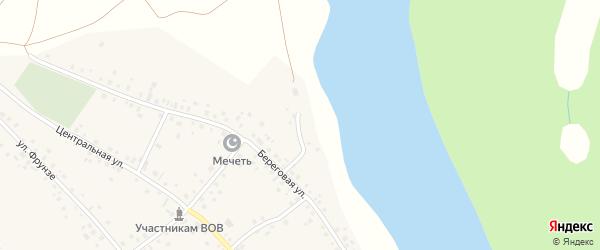 Приозерный переулок на карте села Кумлекуля с номерами домов