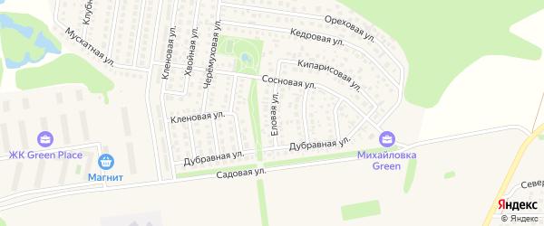 Еловая улица на карте села Михайловки Башкортостана с номерами домов