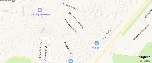 Нектарный переулок на карте села Булгаково с номерами домов