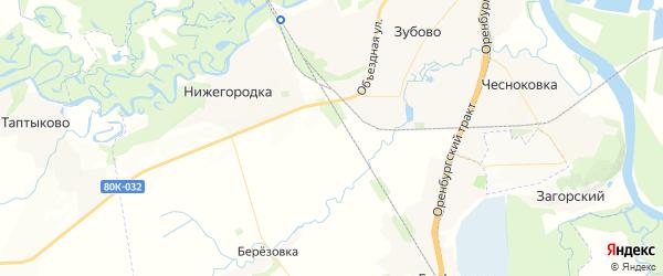 Карта Зубовского сельсовета Республики Башкортостана с районами, улицами и номерами домов