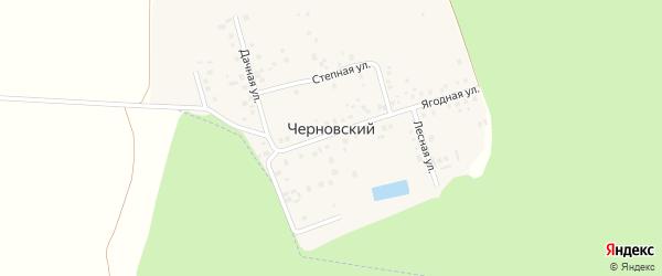 Степная улица на карте деревни Черновского Башкортостана с номерами домов