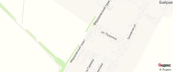 Федоровский тракт на карте деревни Байрака с номерами домов