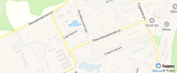Октябрьский переулок на карте села Михайловки Башкортостана с номерами домов