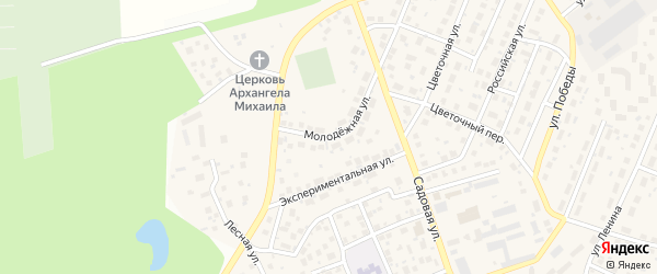 Молодежная улица на карте села Михайловки Башкортостана с номерами домов