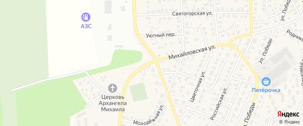Кипарисовая улица на карте села Михайловки Башкортостана с номерами домов