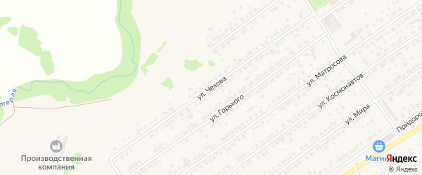 Улица Чехова на карте села Новой Отрадовки с номерами домов