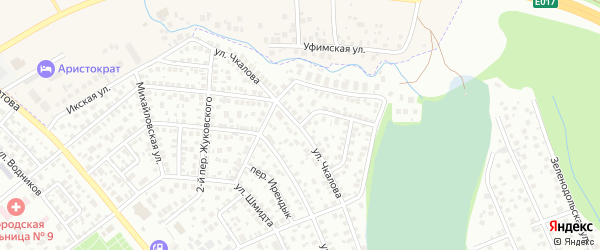 Михайловский переулок на карте села Михайловки с номерами домов