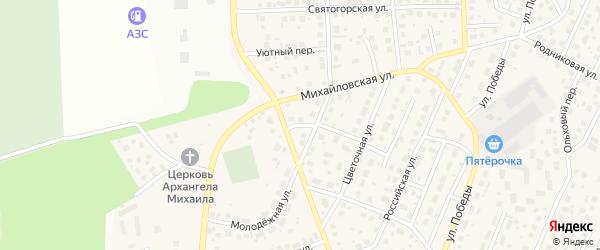 Полевой переулок на карте села Михайловки Башкортостана с номерами домов