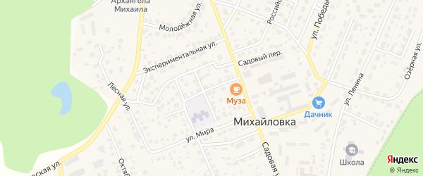 Интернациональная улица на карте села Михайловки Башкортостана с номерами домов