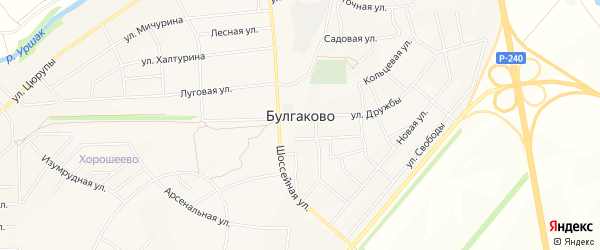 Карта села Булгаково в Башкортостане с улицами и номерами домов