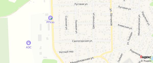 Полевая улица на карте села Михайловки с номерами домов