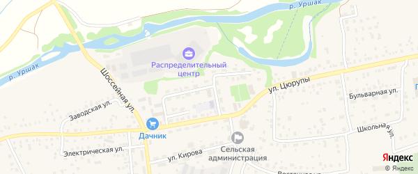 Набережная улица на карте села Булгаково Башкортостана с номерами домов