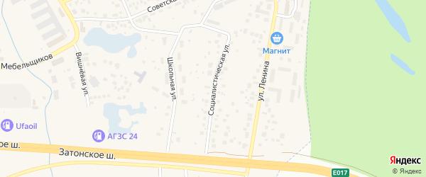 Социалистическая улица на карте села Михайловки Башкортостана с номерами домов