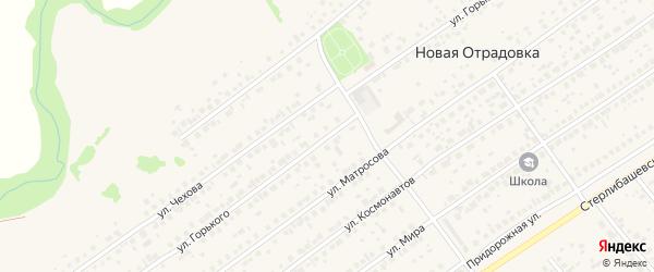 Улица Горького на карте села Новой Отрадовки с номерами домов