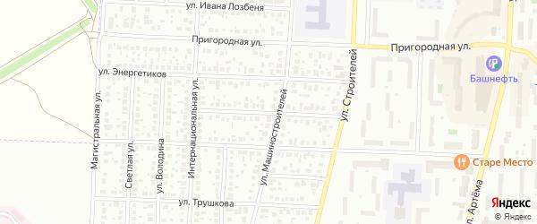 Строителей 1-й переулок на карте Стерлитамака с номерами домов