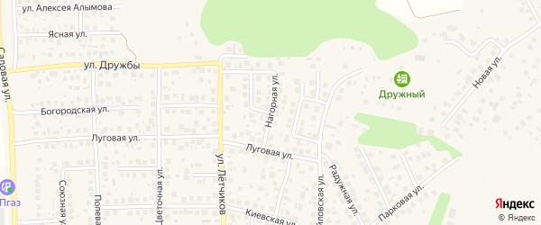 Нагорная улица на карте села Михайловки Башкортостана с номерами домов