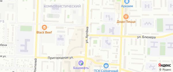 Улица Артема на карте Стерлитамака с номерами домов