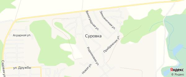 Карта деревни Суровки в Башкортостане с улицами и номерами домов