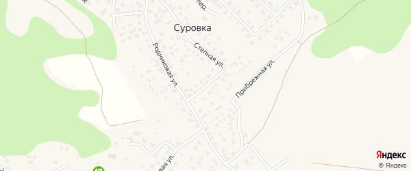 Овражный переулок на карте деревни Суровки с номерами домов