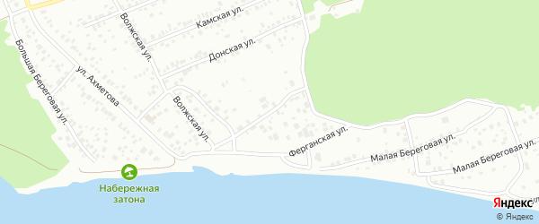 Малая Ферганская улица на карте Уфы с номерами домов
