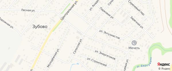Кольцевая улица на карте села Зубово с номерами домов