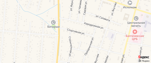 Спортивная улица на карте села Старобалтачево с номерами домов
