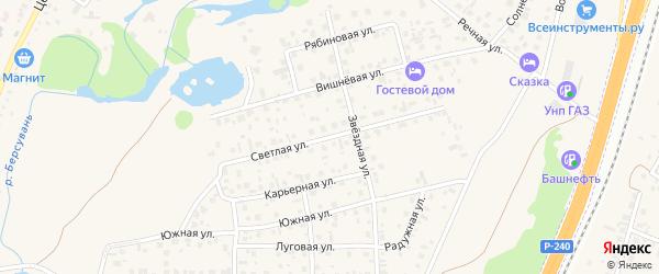 Светлая улица на карте села Зубово с номерами домов