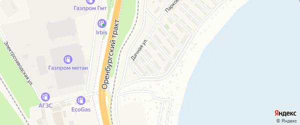 Улица Дружбы на карте села Чесноковки Башкортостана с номерами домов
