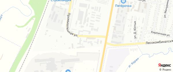 Промышленная улица на карте Мелеуза с номерами домов