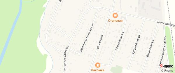 Коммунистическая улица на карте села Наумовки с номерами домов