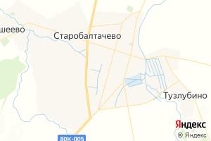 Карта с. Старобалтачево Республика Башкортостан
